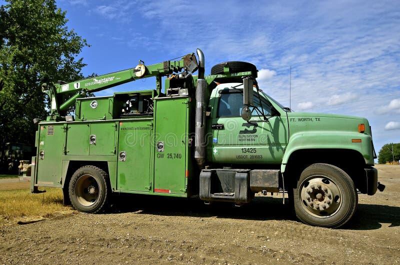 Burlington Northern Repair Truck stock images