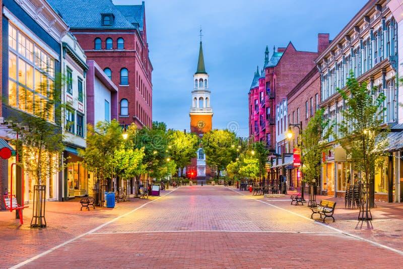 Burlington, Vermont, USA. At Church Street Marketplace stock photography
