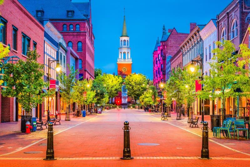 Burlington, Vermont, USA. At Church Street Marketplace royalty free stock photos