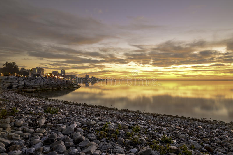 Burlington wschód słońca obraz stock