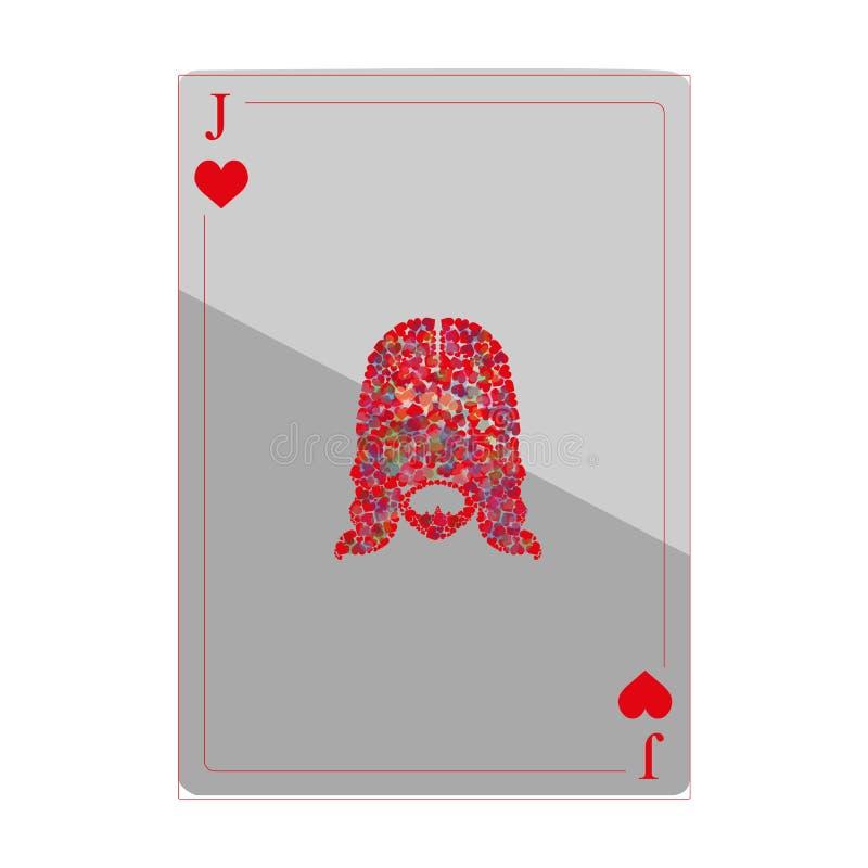 Burlone delle carte da gioco fotografia stock libera da diritti