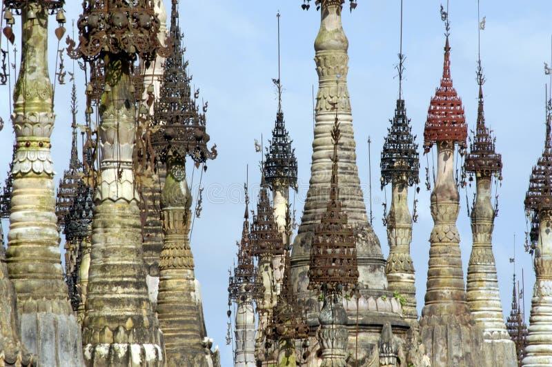 Burma / Indein Pagodas Stock Images