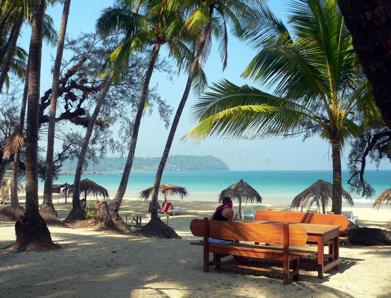 Burma: Ngpali Beach royalty free stock image