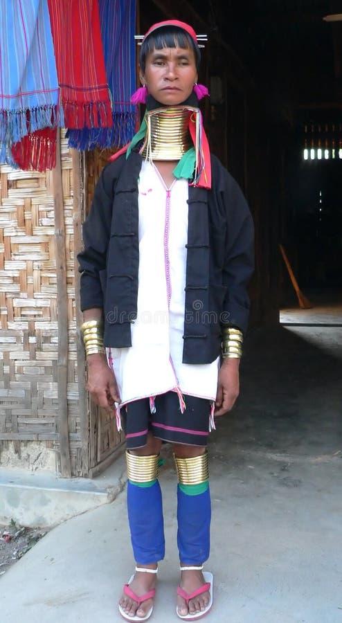 Burma. Padaung Tribe Lady royalty free stock photo
