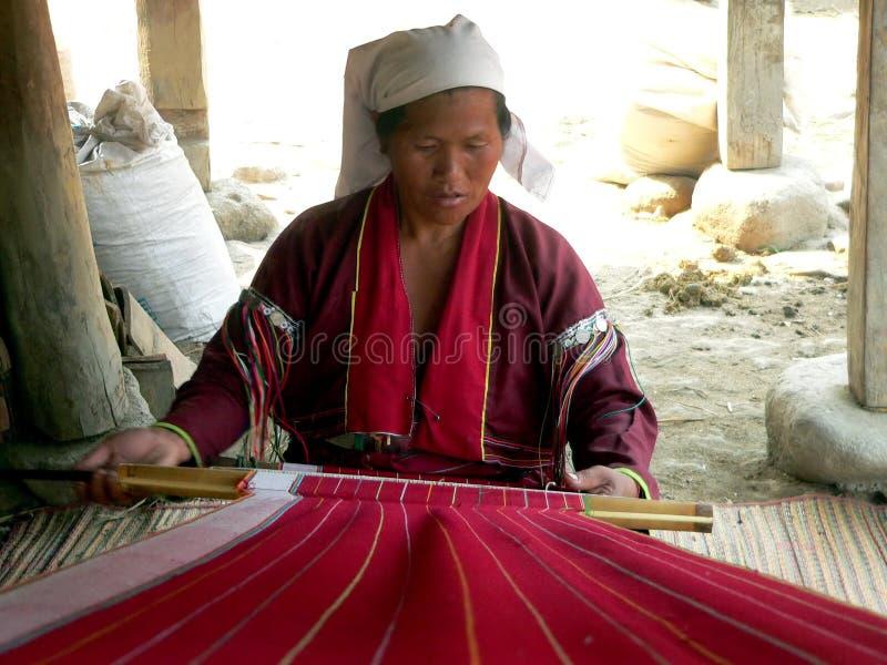 Burma. Palaung Tribe Lady stock photos