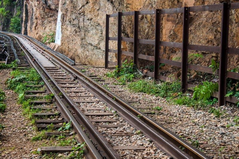 Burma railway (Death railway). View of Burma railway (Death railway), Thailand stock photo
