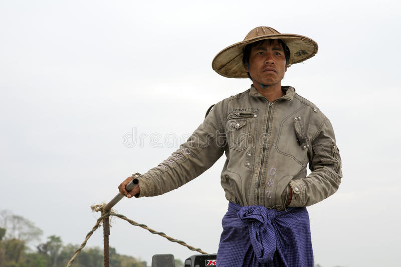 Download Burmese Boatman editorial photography. Image of boatman - 30440912
