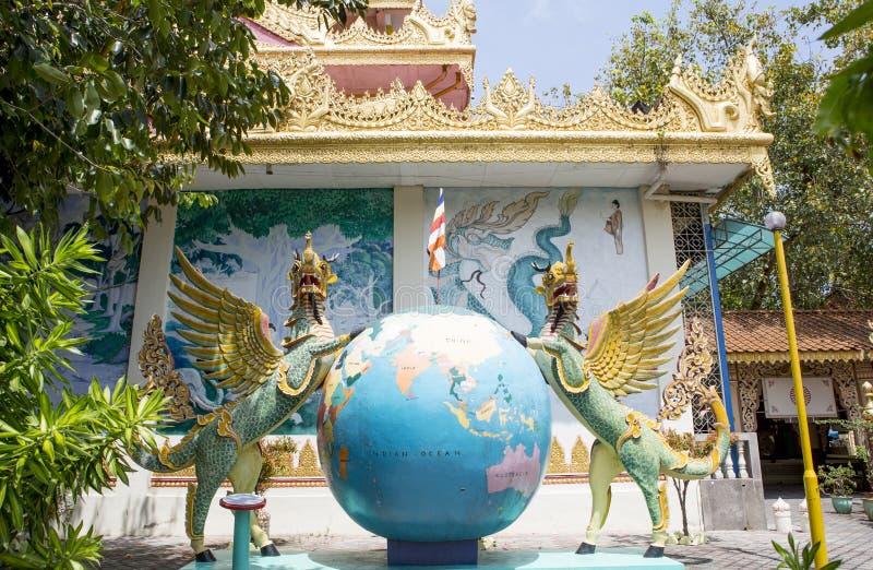 Burmese Buddhist Temple 1 royalty free stock photo