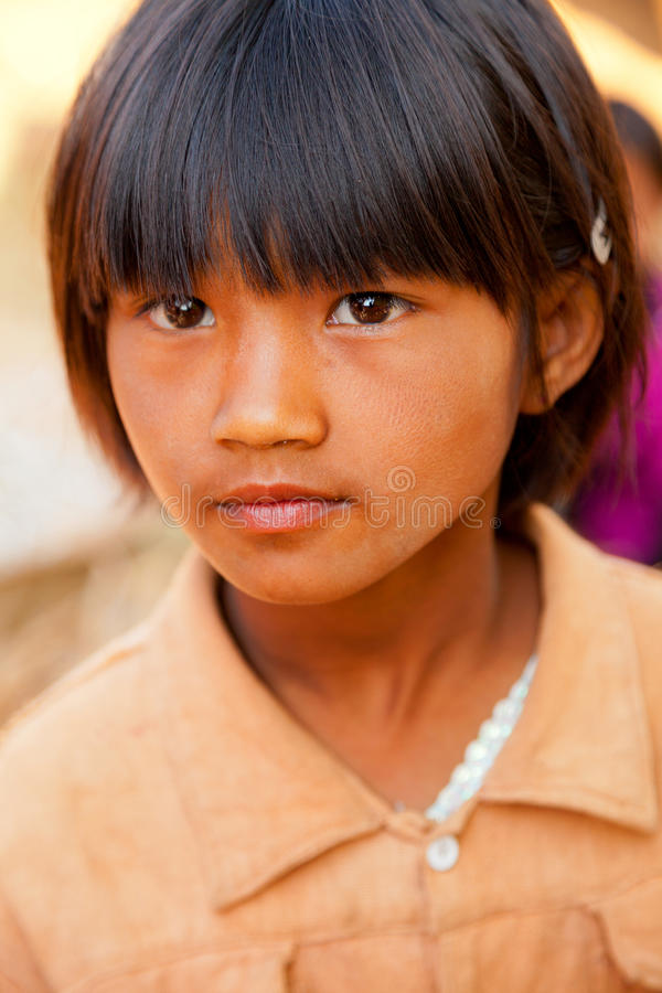 Burmese girl portrait royalty free stock photos