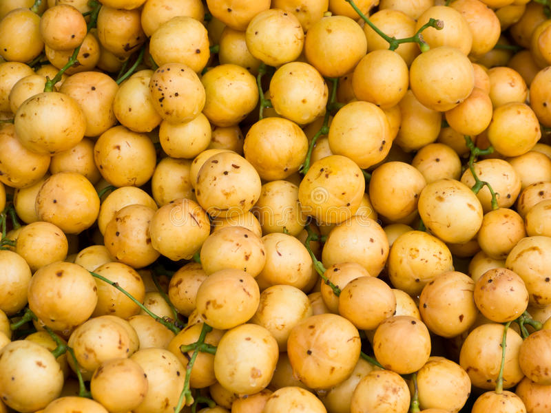 Burmese grape. Citrus fruit in market stock photos