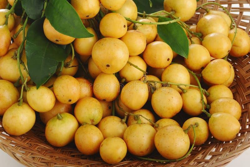 Burmese grape. In a basket royalty free stock image