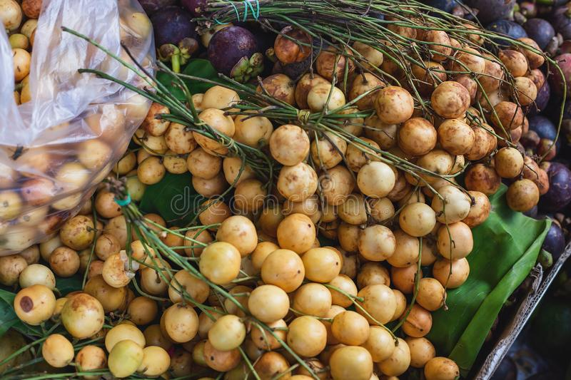 Burmese grape or Rambai. Yellow Burmese grape or Rambai stock photos