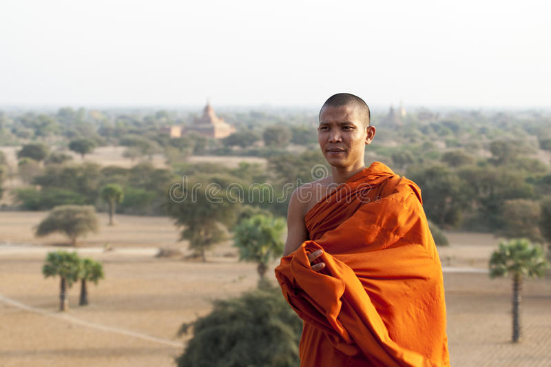 Monk In Bagan Editorial Photo