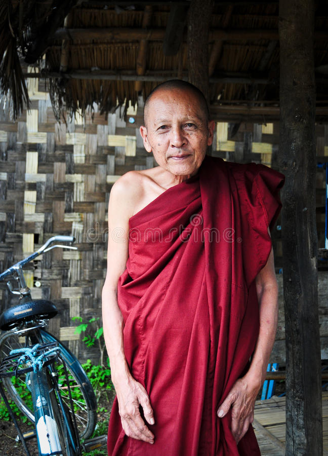 Burmese monk in Mandalay royalty free stock photos