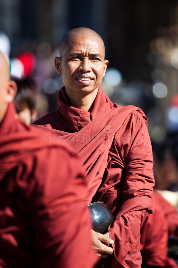 Burmese Monk stock images