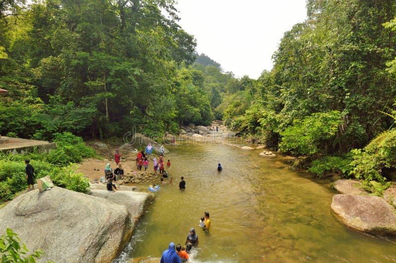 Burmese Pool. Kolam Renang Batu Besar, Taiping, Perak, Malaysia royalty free stock photo