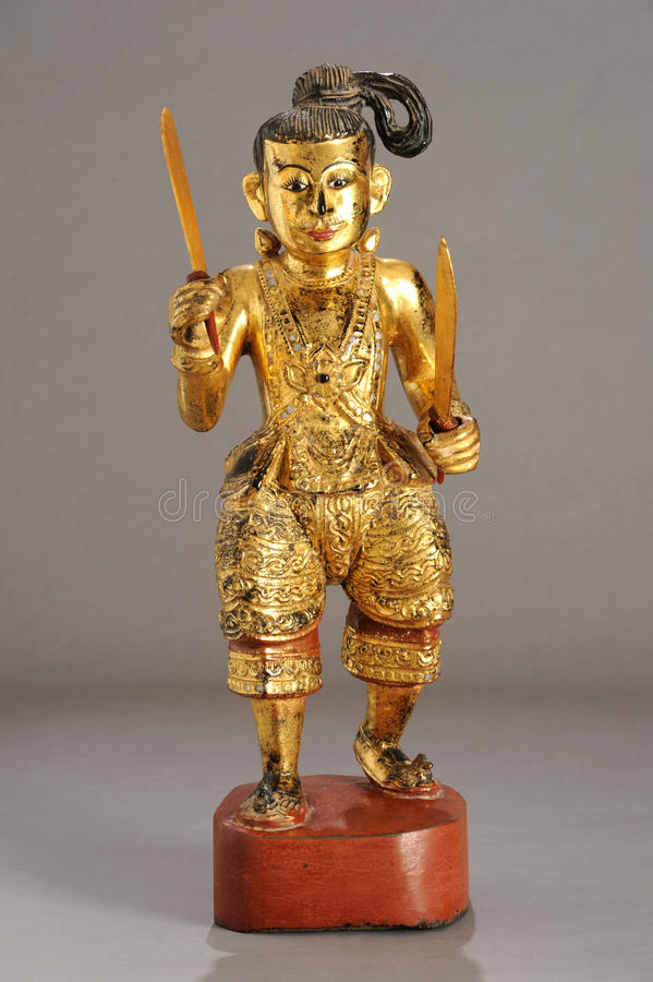 Burmese statue of Nat. Old Burmese statue of Nat royalty free stock photography