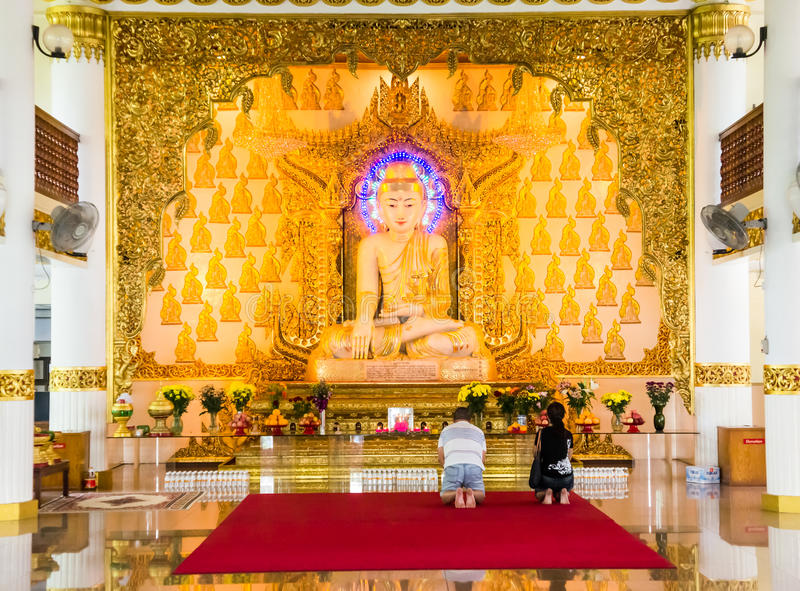 Burmese tempel, Singapore arkivfoton