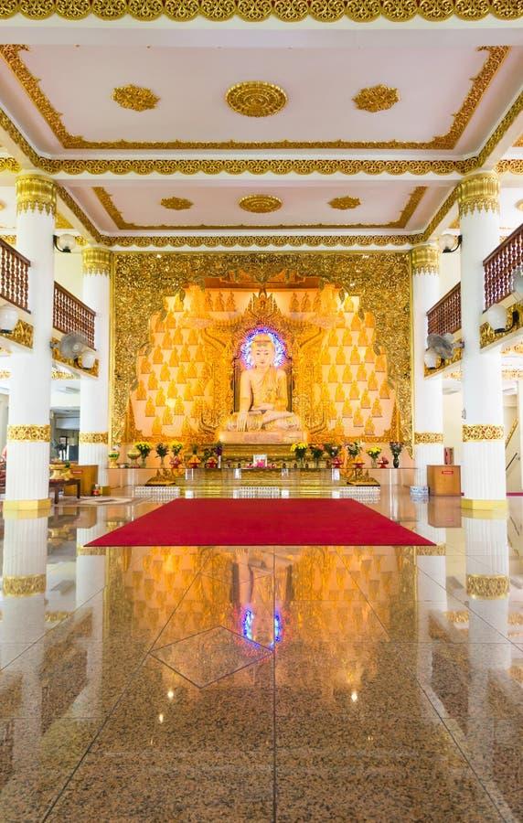 Burmese tempel, Singapore royaltyfri bild