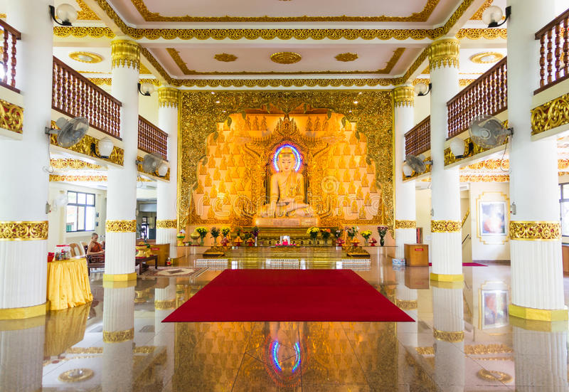 Burmese tempel, Singapore arkivfoto