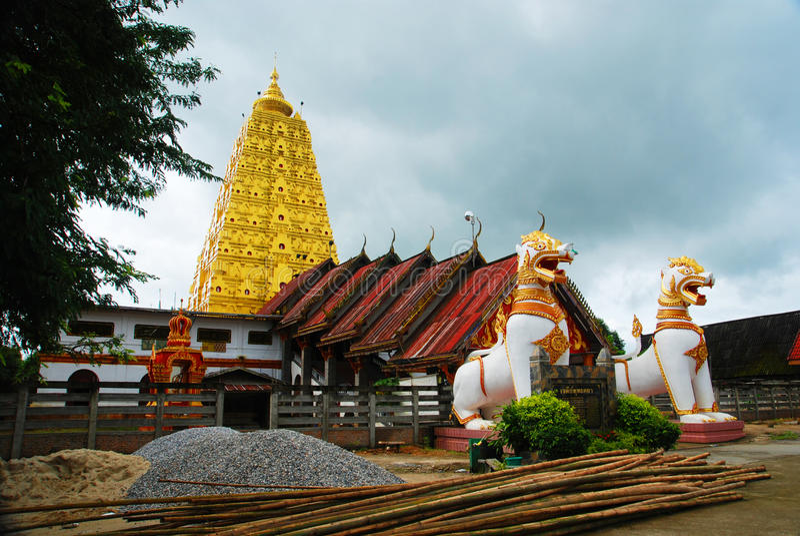 Download Burmese Temple In Sangkhlaburi Stock Photo - Image: 24748058