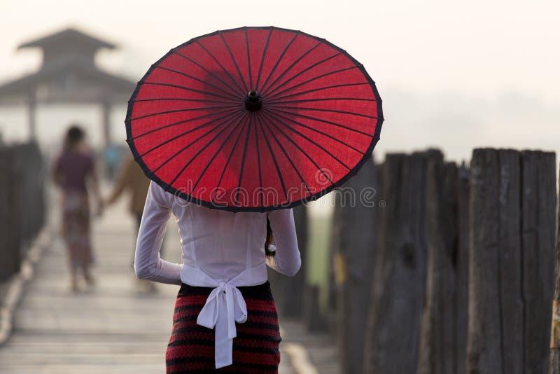 Burmese woman stock images