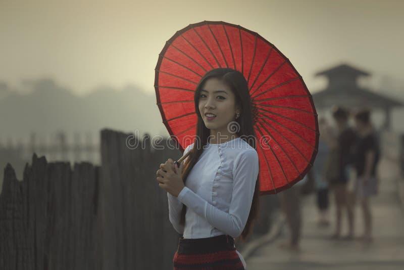 Burmese women stock photo
