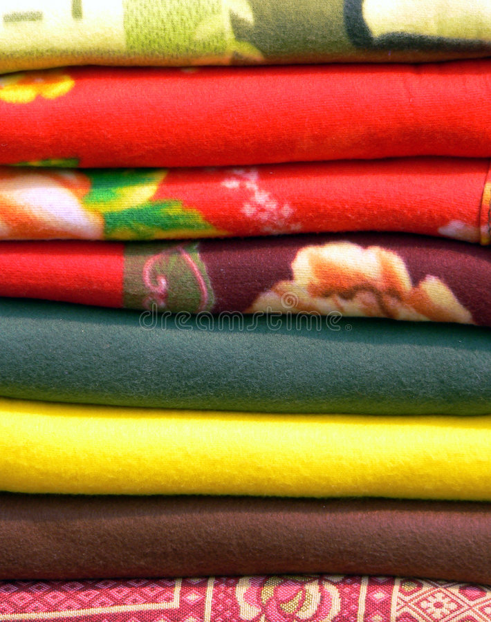 Burmese Woven Blankets royalty free stock photo