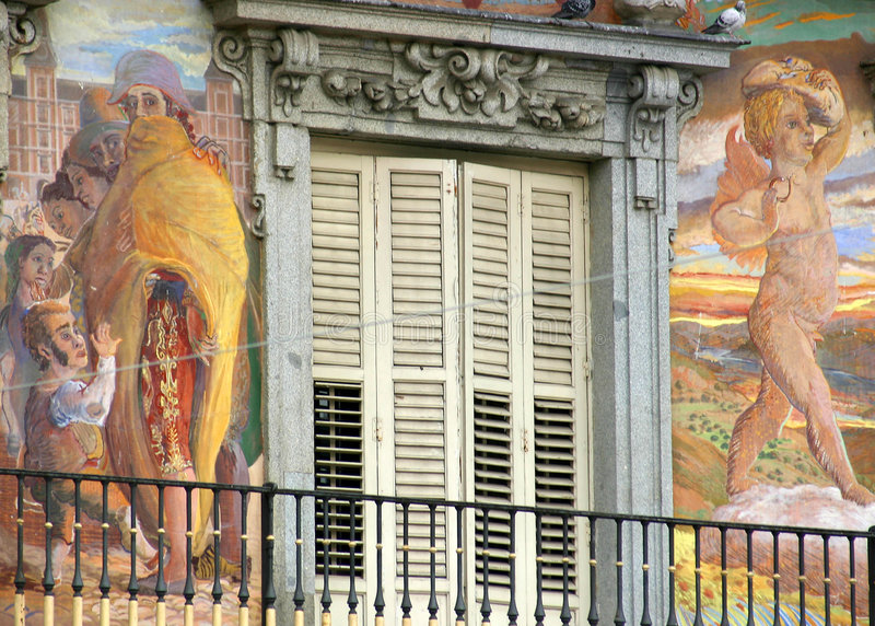 burmistrz plaza madryt zdjęcia royalty free