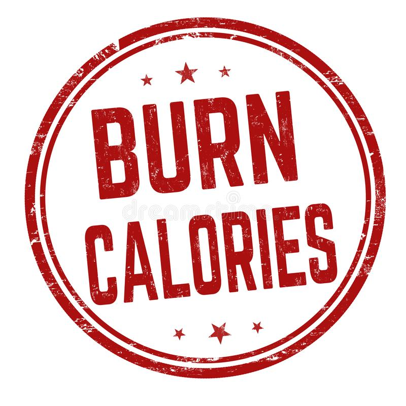 Burn calories sign or stamp royalty free illustration