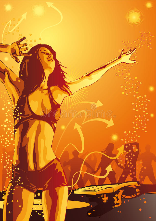 Download Burn The Club - Ladies Night Stock Illustration - Image: 10885381