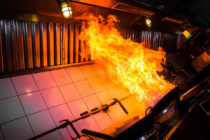 Burn fire cooking stock photos