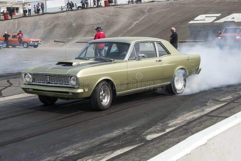 Burn-out de faucon de Ford images stock