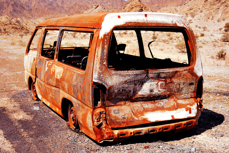 burn out vehicle royalty free stock photos
