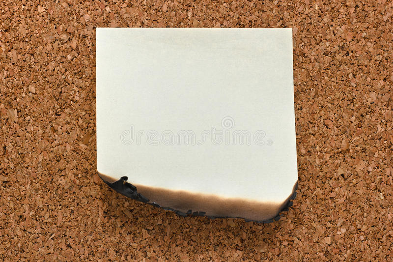 Download Burn sticky note on cork stock image. Image of concept - 28273961