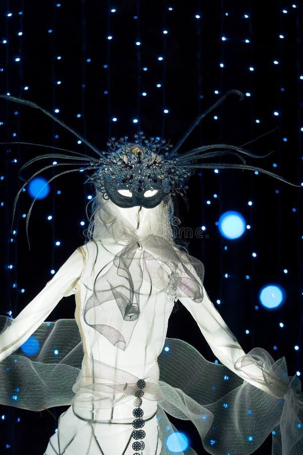 Burnaby, ДО РОЖДЕСТВА ХРИСТОВА - 31-ое декабря 2018: 9 дам танцуя дисплей рождества, музей деревни Burnaby стоковая фотография