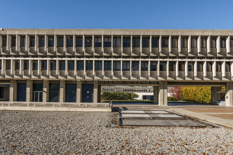 BURNABY, CANADA - 17 NOVEMBRE 2018: Simon Fraser University Campus sulla montagna di Burnaby immagini stock libere da diritti