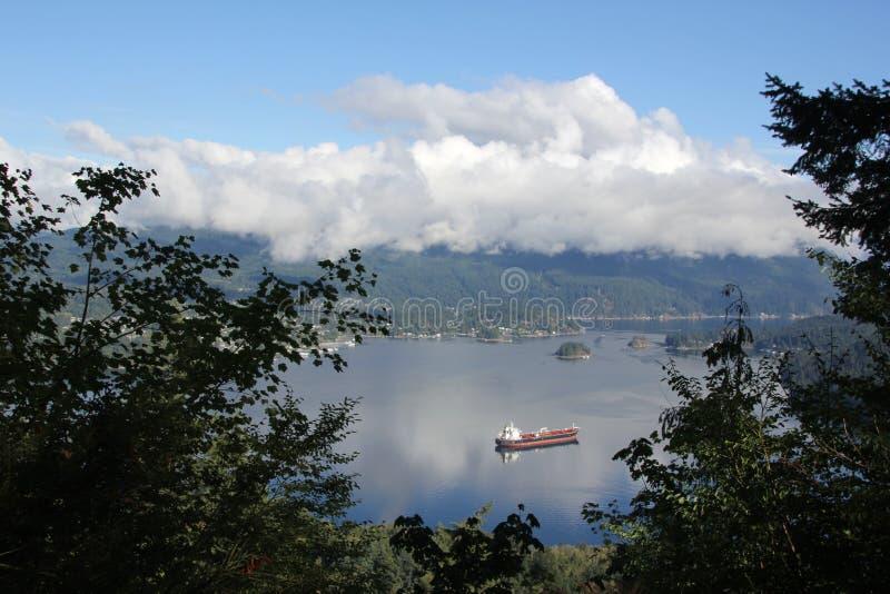 Burnaby Mountain View photo libre de droits