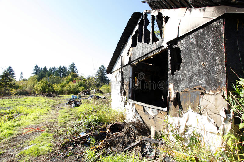 Download Burned and abandoned house stock photo. Image of abandoned - 16553506