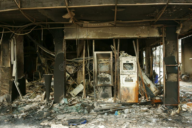Download Burned Atm Machines, Siam Square. Editorial Stock Photo - Image: 14410508