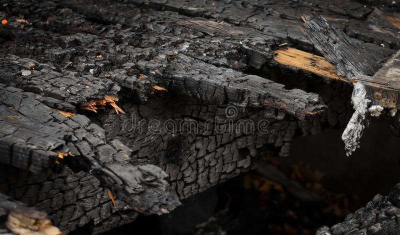Burned Deck royalty free stock images