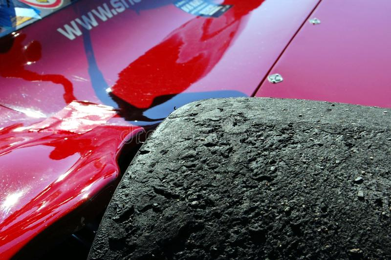 Download Burned Racing Tire With Rocks Editorial Stock Image - Image: 16401574