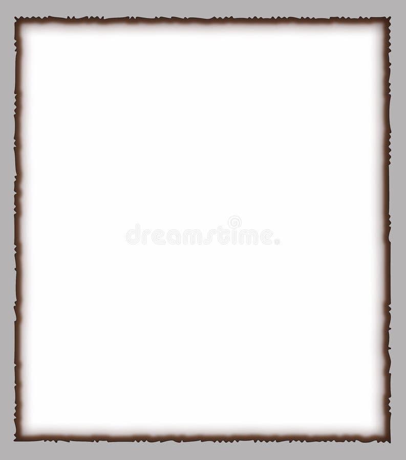 Burned white paper stock image