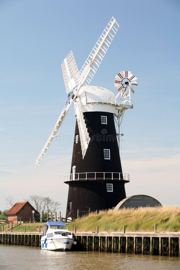 Burney arme le moulin, Norfolk, Angleterre images libres de droits
