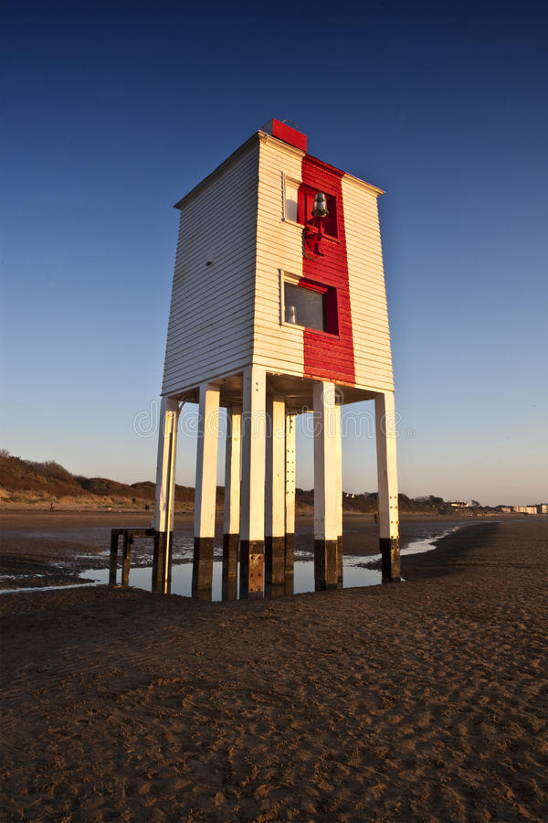 burnham木灯塔的海运 图库摄影