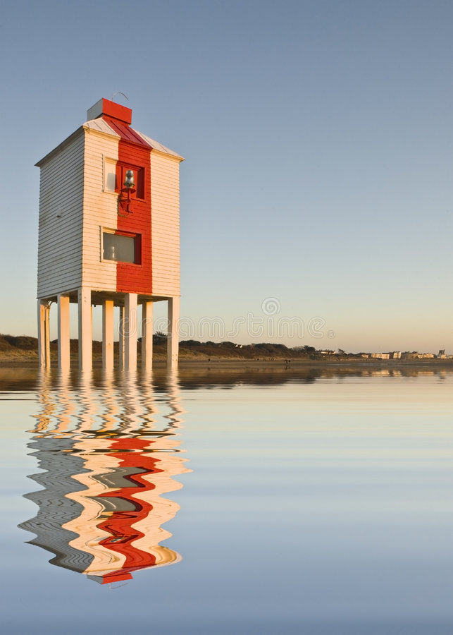 burnham黎明灯塔低海运 库存照片
