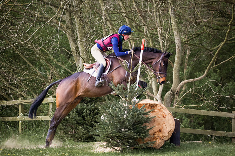Burnham Market international horse trials 2017. BURNHAM MARKET, NORFOLK/ENGLAND - APRIL 13th 2017: Burnham Market International Horse Trials 2017 cross country royalty free stock photos