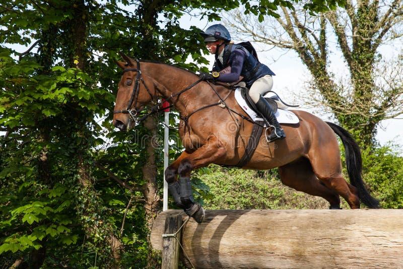 Burnham Market international horse trials 2017. BURNHAM MARKET, NORFOLK/ENGLAND - APRIL 13th 2017: Burnham Market International Horse Trials 2017 cross country royalty free stock images