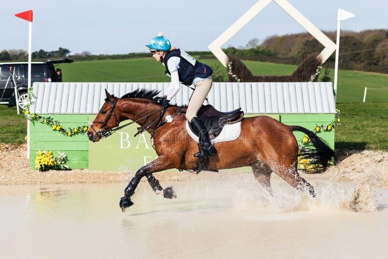 Burnham Market international horse trials 2017. BURNHAM MARKET, NORFOLK/ENGLAND - APRIL 15th 2017: Burnham Market International Horse Trials 2017 Jonty Evans royalty free stock image