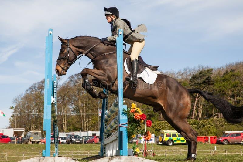 Burnham Market international horse trials 2017. BURNHAM MARKET, NORFOLK/ENGLAND - APRIL 13th 2017: Burnham Market International Horse Trials 2017 show jumping royalty free stock photography